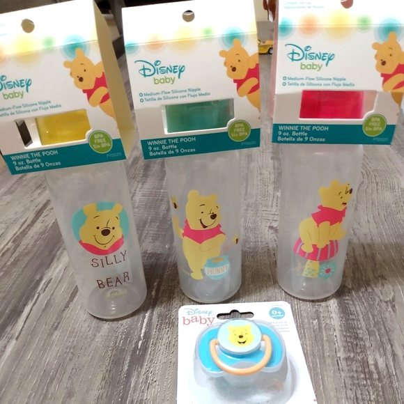 Disney Baby Bottles and Pacifier Set